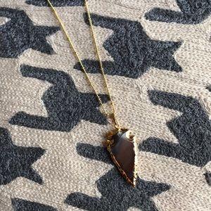 ⭐️HP⭐️Stone arrowhead pendant US crafted